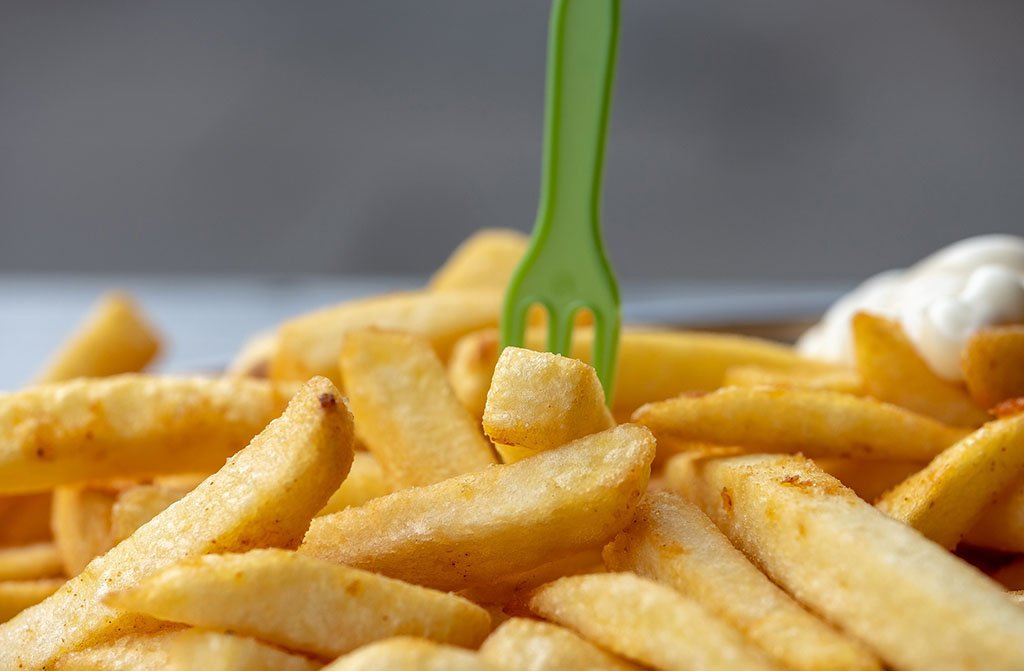 Patata frita deseando ser comida